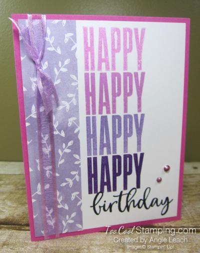 Biggest Wish Hinge Step Birthday - pinks