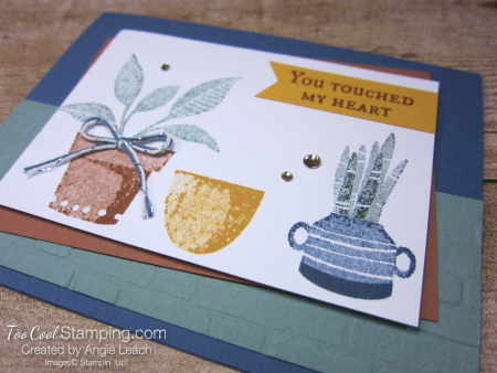 Bloom where planted stamped trio - misty 2
