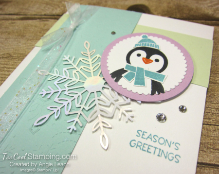 Penguin Place Snowflake cards - pool a2