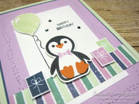 Penguin Place birthday with balloon -  freesia 2
