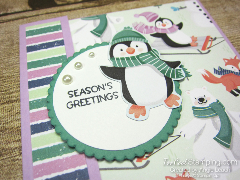 Penguin Place DSP card front cards - fresh freesia 2