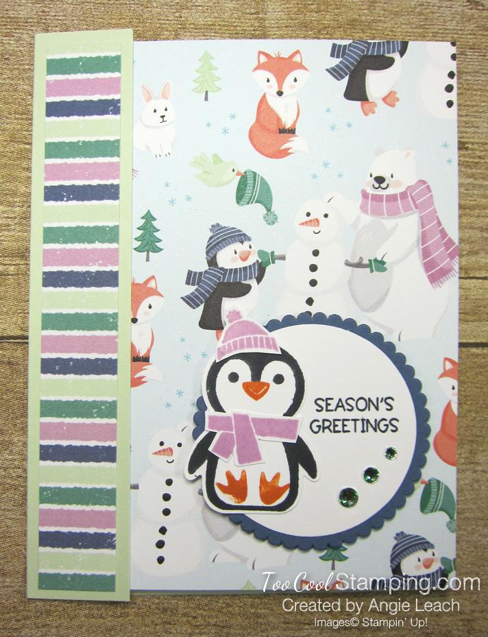 Penguin Place DSP card front cards - sea foam 1