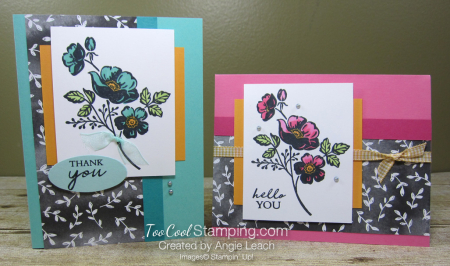 Shaded Summer simpe floral - two cool