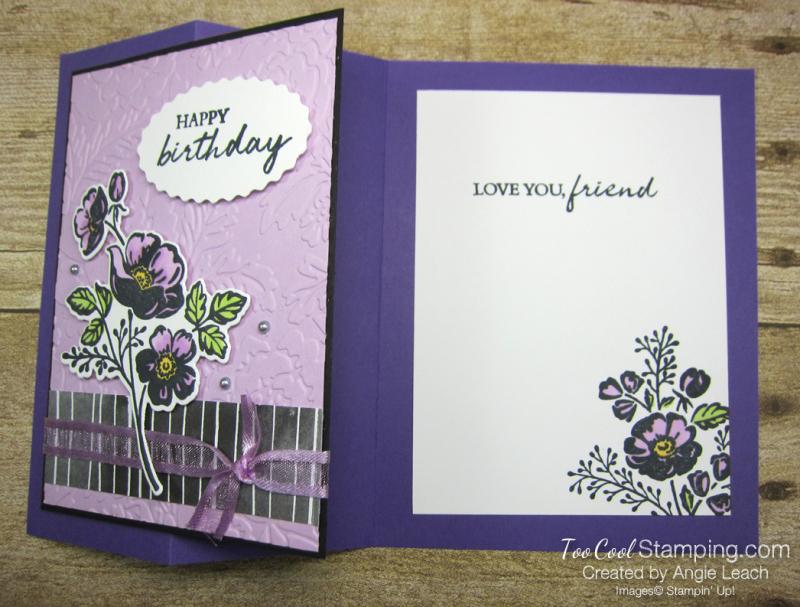 Shaded Summer z-fold petals - grape 3