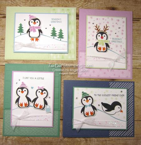 Penguin Place snow scene cards - 4-cool