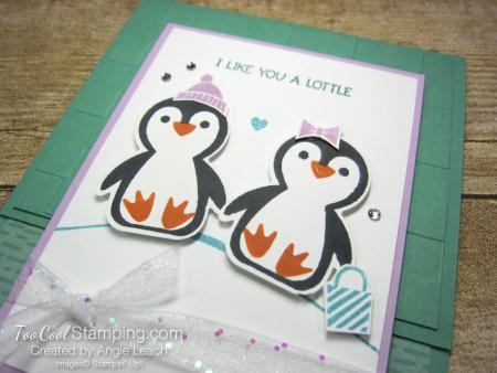 Penguin Place snow scene cards - jade 2