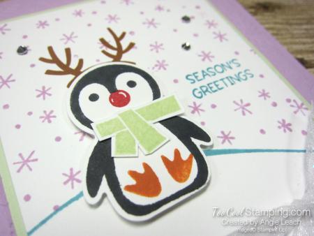 Penguin Place snow scene cards - freesia 2