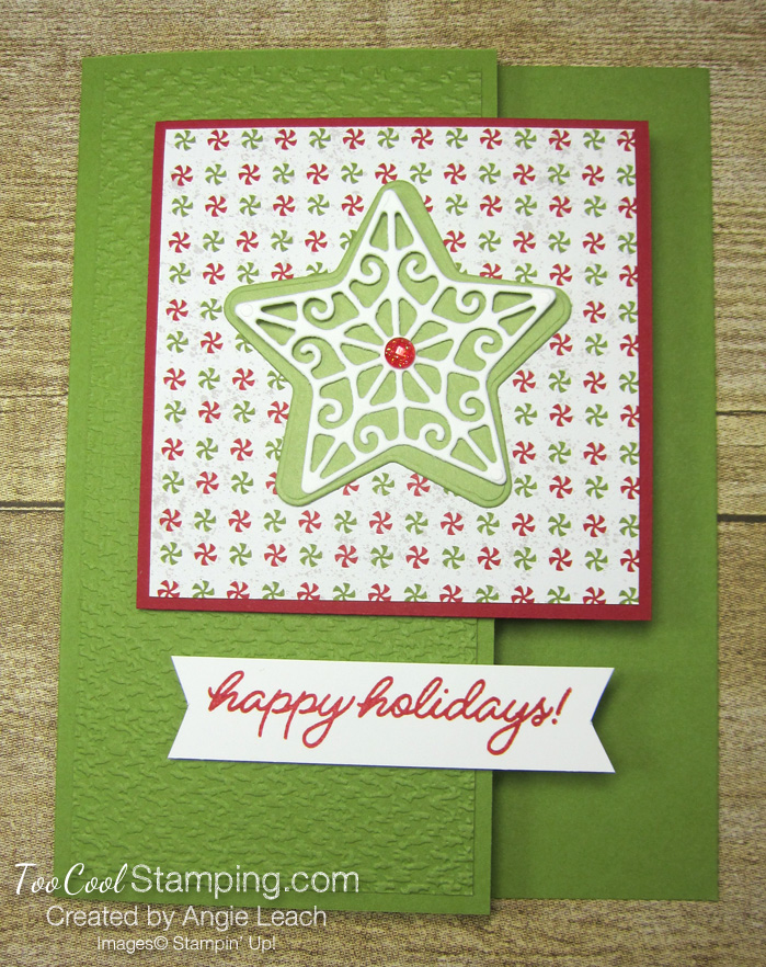 Frosted gingerbread star happy holidays - olive 1