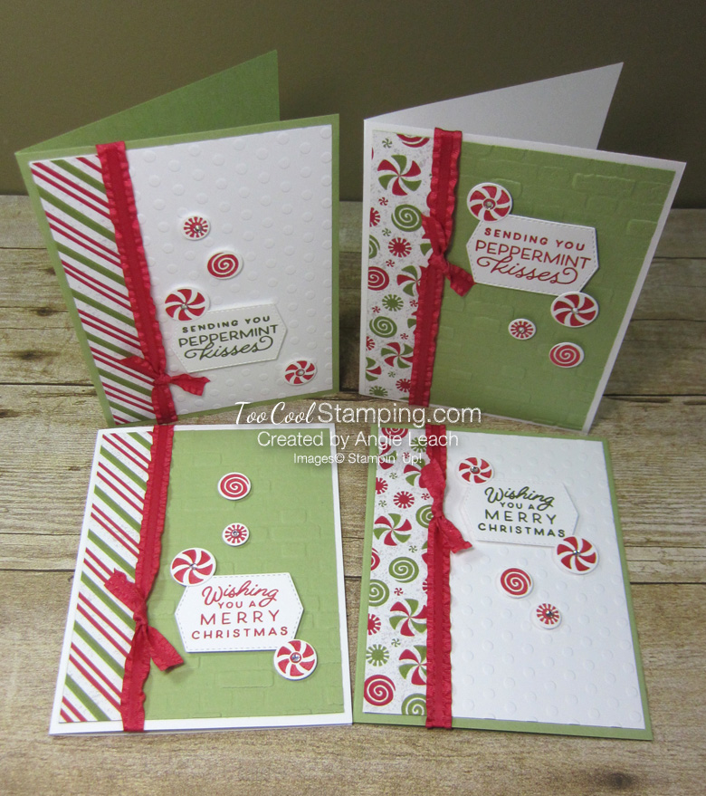 Frosted gingerbread peppermint card - four cool