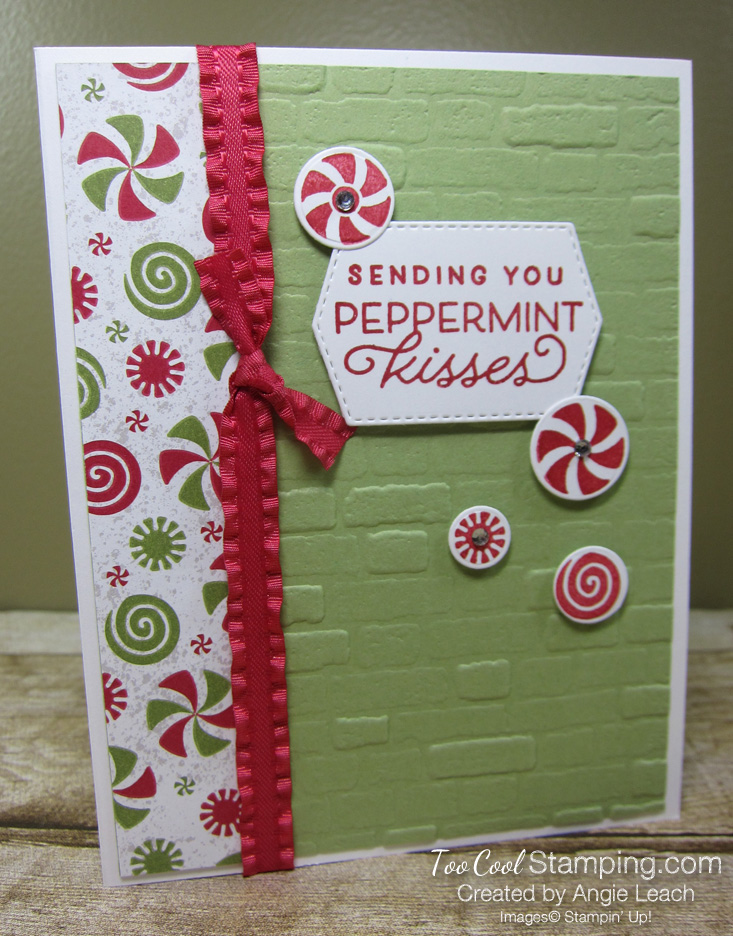 Frosted gingerbread peppermint card - pear1