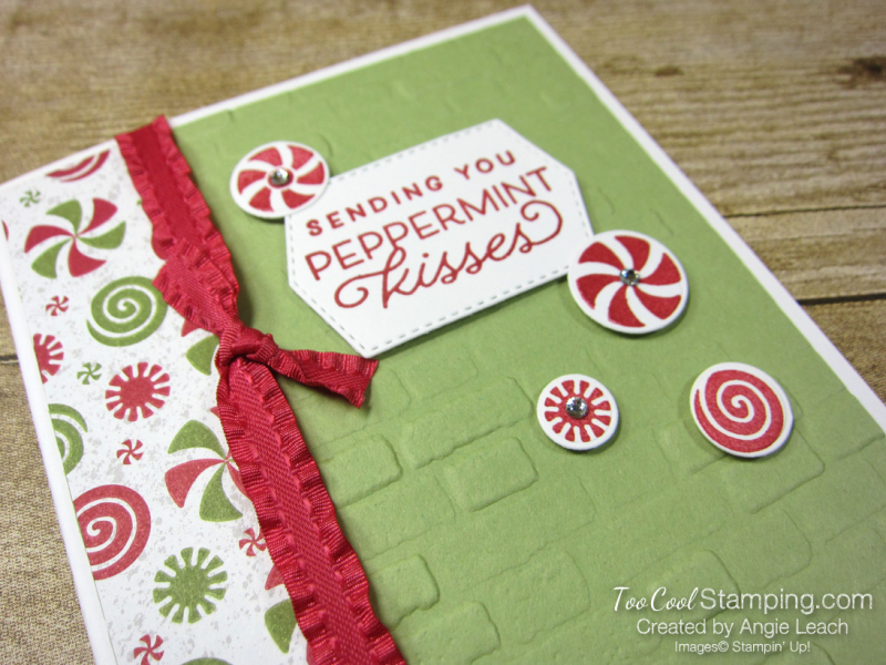 Frosted gingerbread peppermint card - pear2