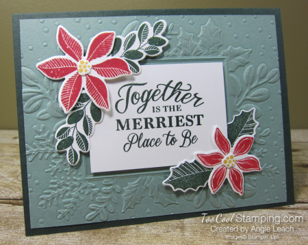Merriest Moments embossed frame - succulent h1
