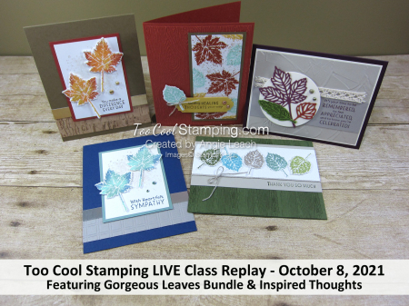 Gorgeous leaves live class banner