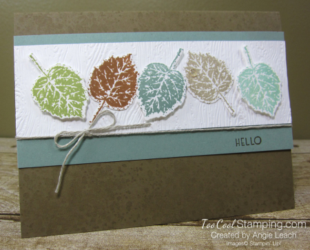 Gorgeous leaves line up - suede 1