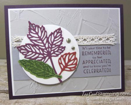 Gorgeous leaves intricate die-cuts - blackberry 1