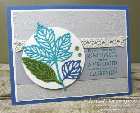 Gorgeous leaves intricate die-cuts - misty 1
